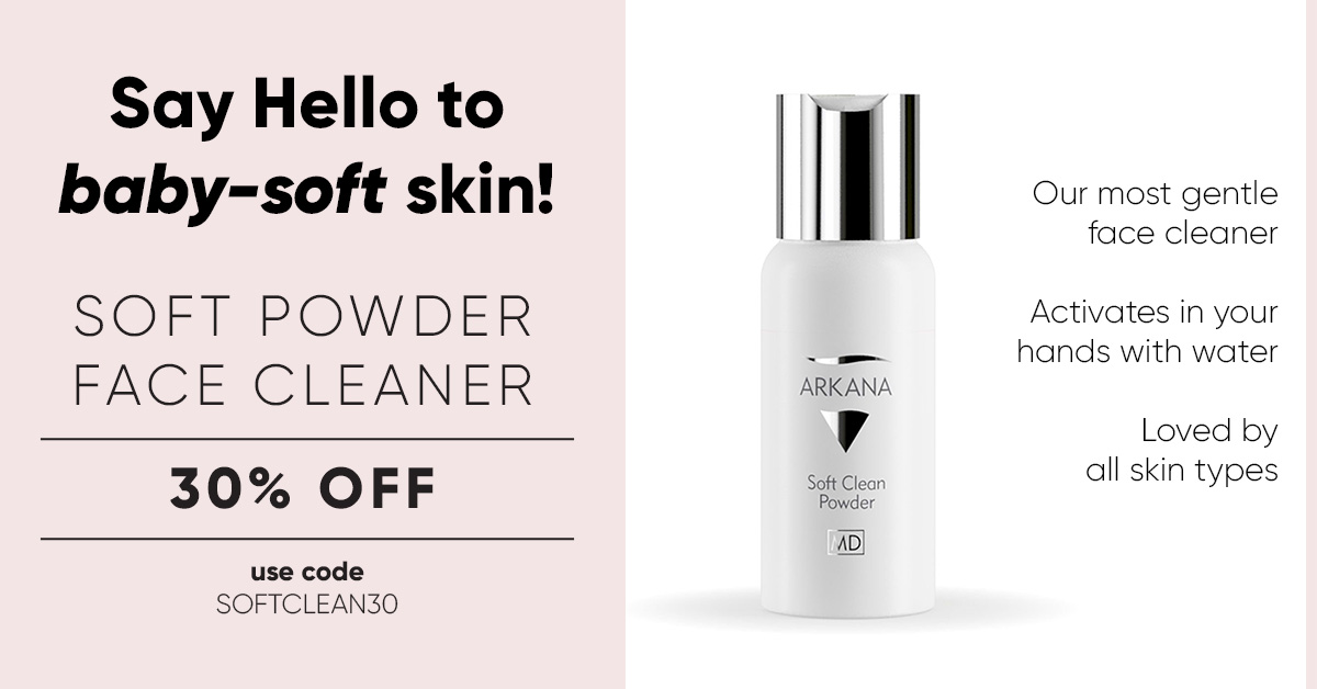 30% Off Arkana Soft Clean Powder - Use Code SOFTCLEAN30